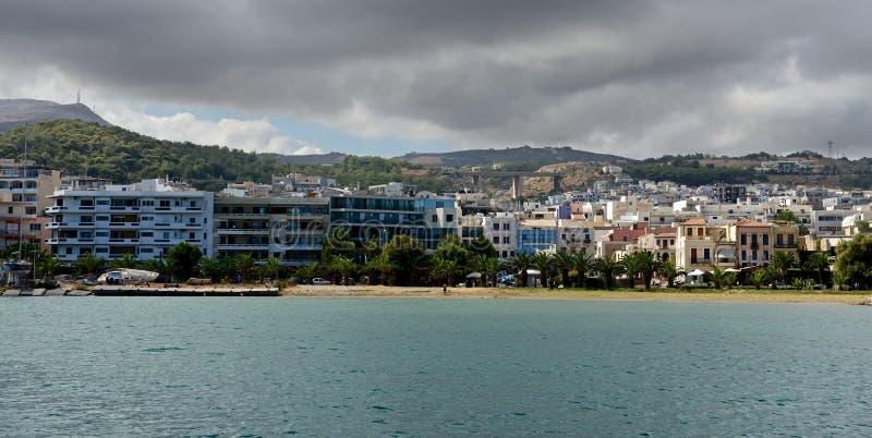 在风暴之前的Rethymno。 库存图片
