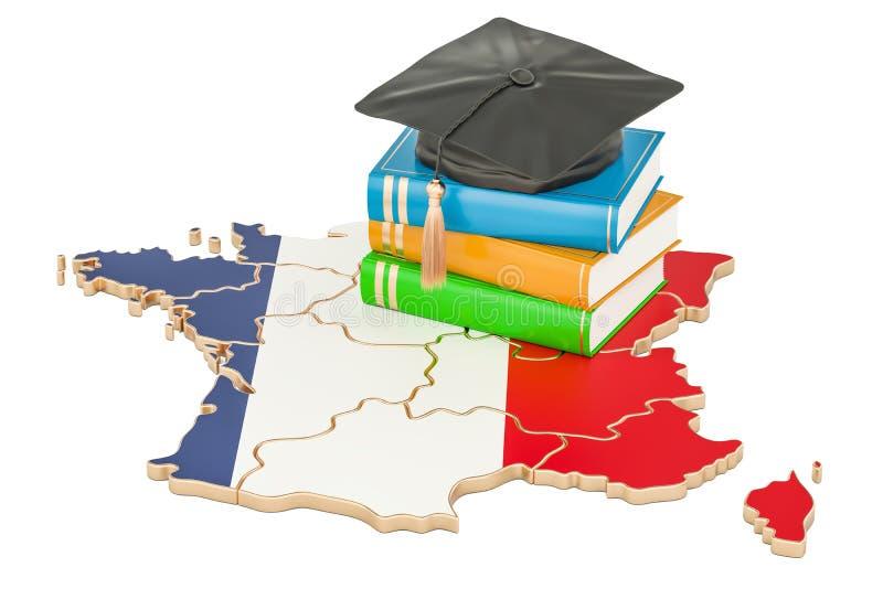 在法国概念, 3D的教育翻译 皇族释放例证