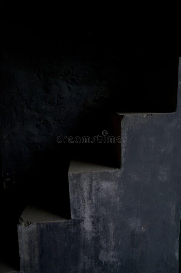 在法国殖民地监狱的灰色台阶 图库摄影