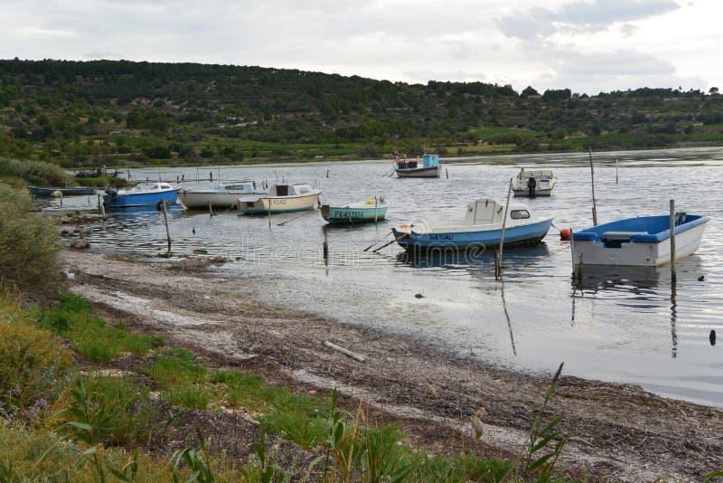 在法国的南部的小船 图库摄影