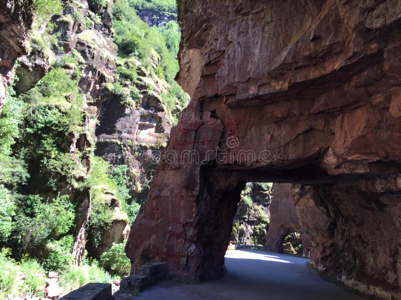 在法国的峡谷的路 库存照片