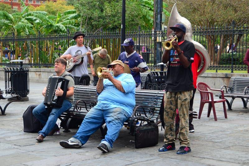 在法国街区的活爵士乐 库存图片