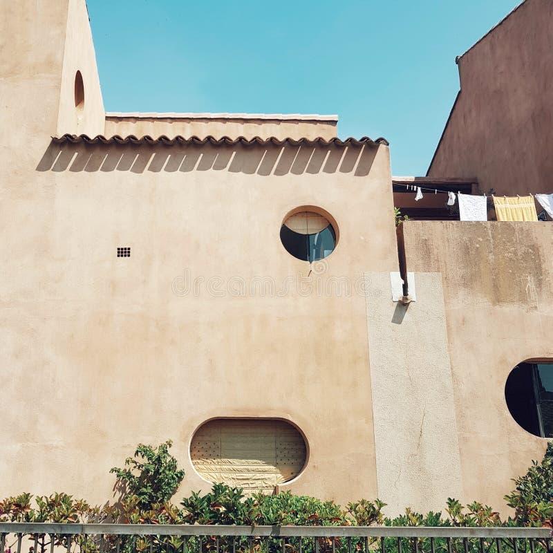 在法国riviara,法国的好的大厦 库存照片