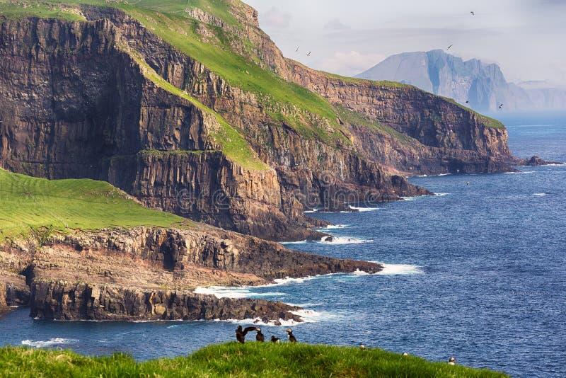 在法罗岛的剧烈的风景 免版税图库摄影