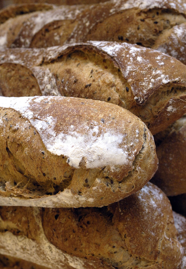 在法语上添面包 库存图片
