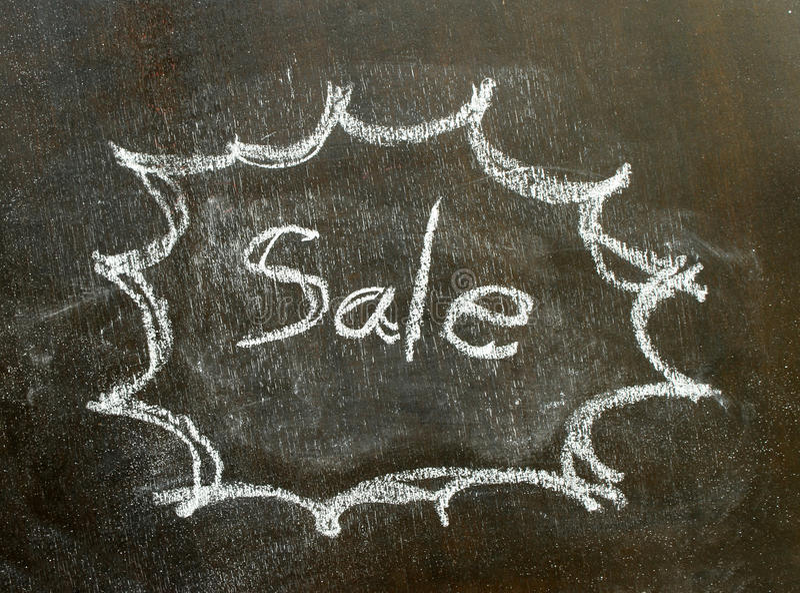 在泡影标志的词销售 免版税库存照片
