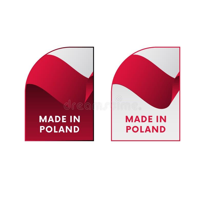 在波兰制造的贴纸 也corel凹道例证向量 皇族释放例证