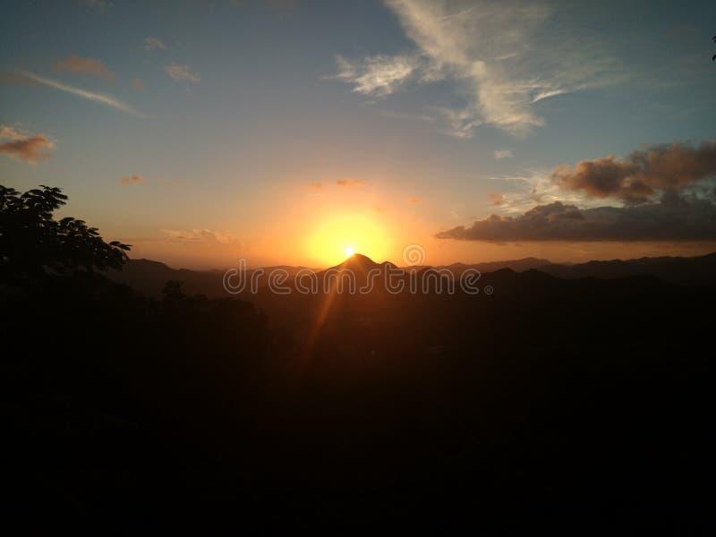 在波多黎各的日落 免版税库存图片
