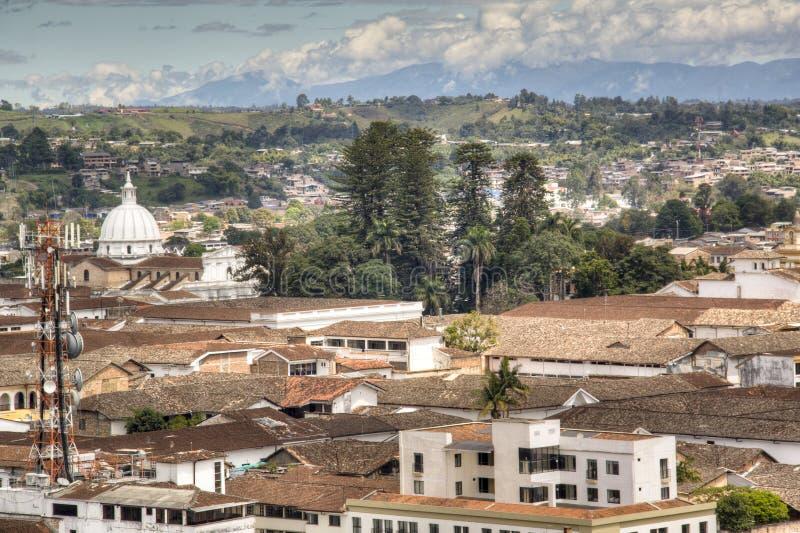 在波帕扬,哥伦比亚的看法 免版税图库摄影