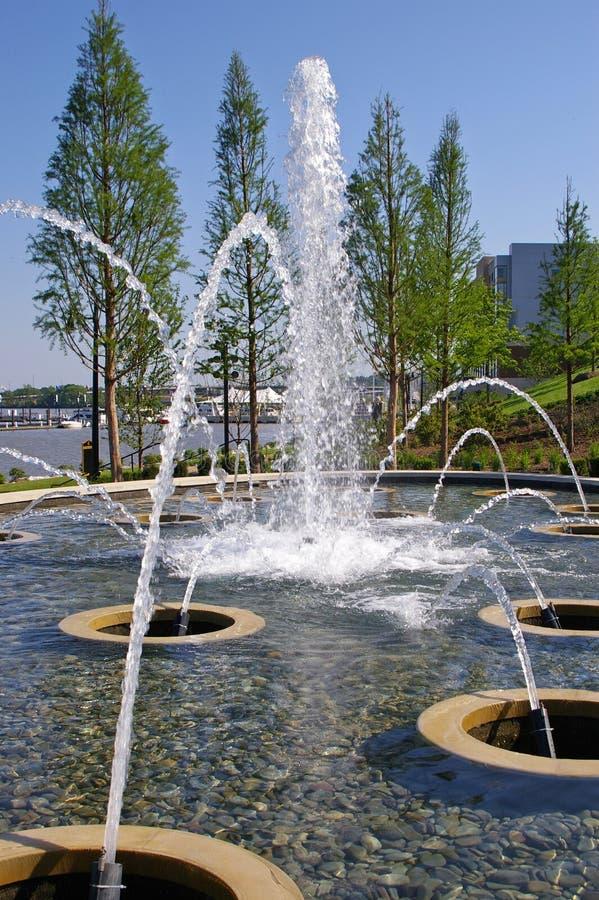 在波托马克的一个喷泉在全国港口 免版税库存照片