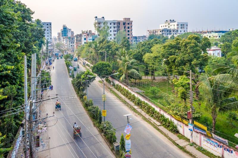 在波格拉 — 孟加拉国的街头 图库摄影