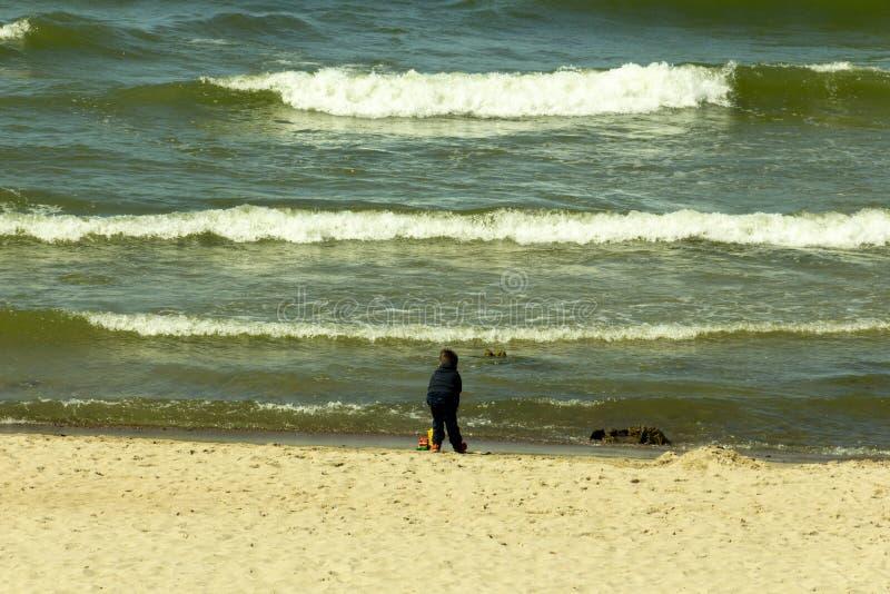 在波罗的海的星期天假日 免版税库存照片