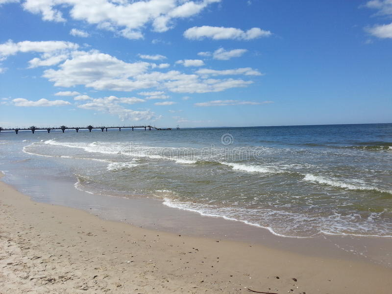 在波罗的海的波浪 免版税库存照片