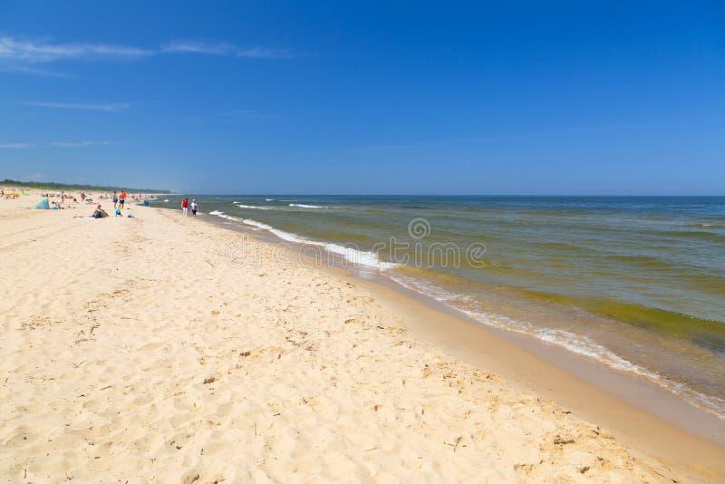 在波罗的海的海滩 免版税库存照片