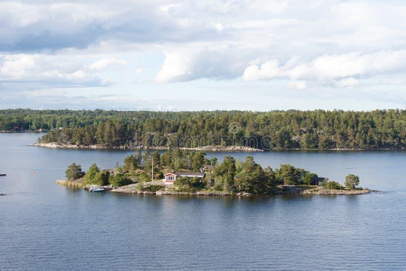 在波罗的海的美丽的海岛 库存照片