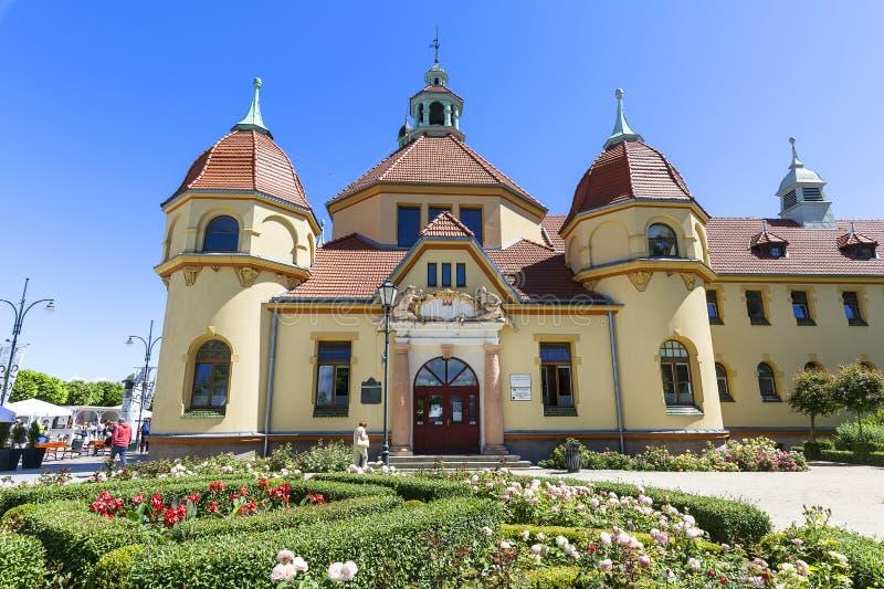 在波罗的海的Balneological部门,在索波特码头附近,波兰 库存照片