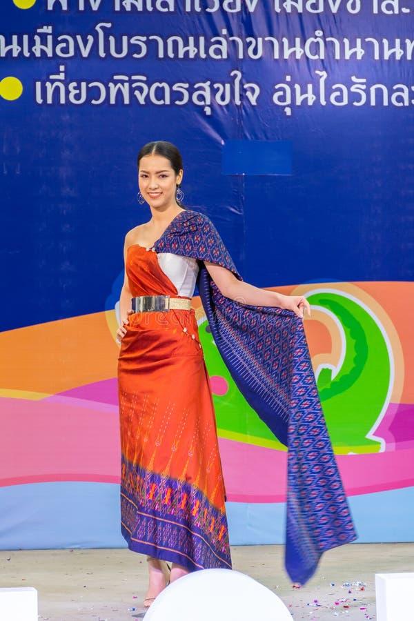 在泰国传统服装的美好的模型 图库摄影