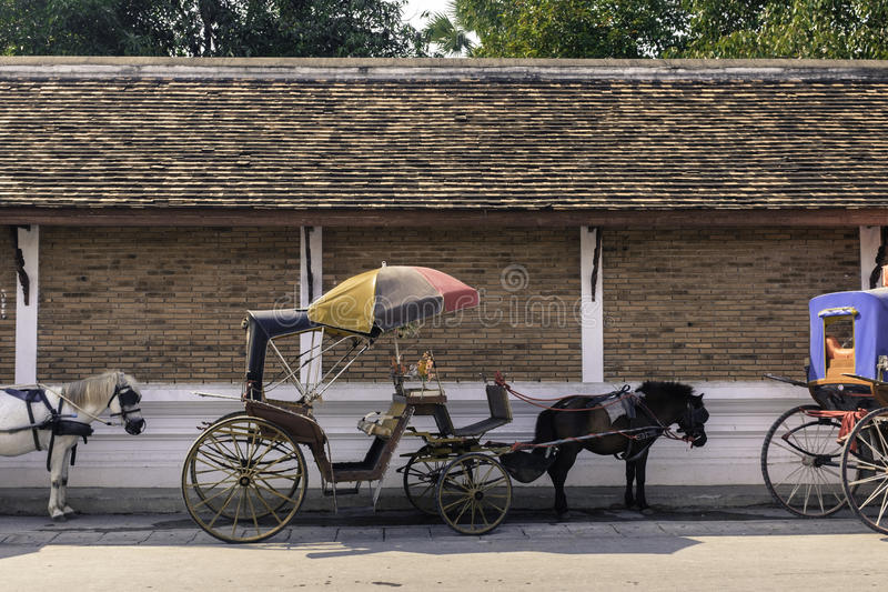 在泰国北部的传统支架lampang城市 免版税库存照片