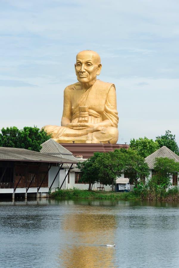 在泰国的寺庙的大mong雕象 免版税图库摄影