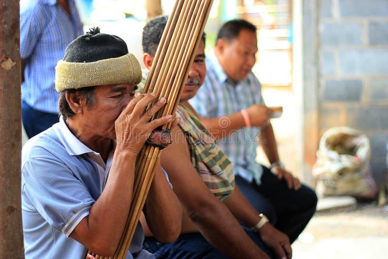 在泰国的Esan的Peple 库存照片