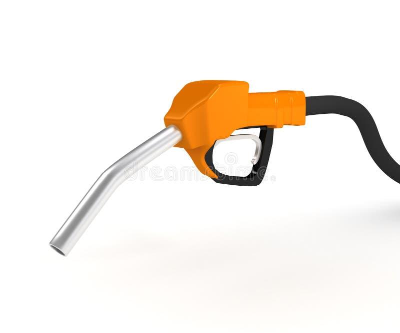 在泵的背景加油岗位白色 皇族释放例证