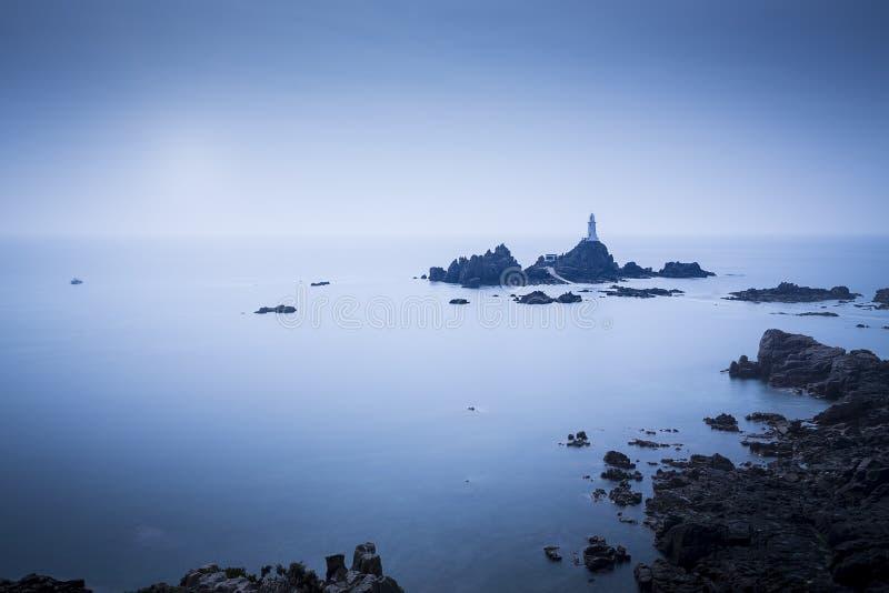 在泽西海岛,英国上的灯塔 免版税库存照片
