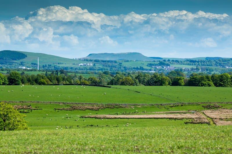 在洛克比,苏格兰附近的Burnswark小山 免版税库存图片