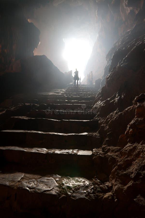 在洞的台阶 库存照片