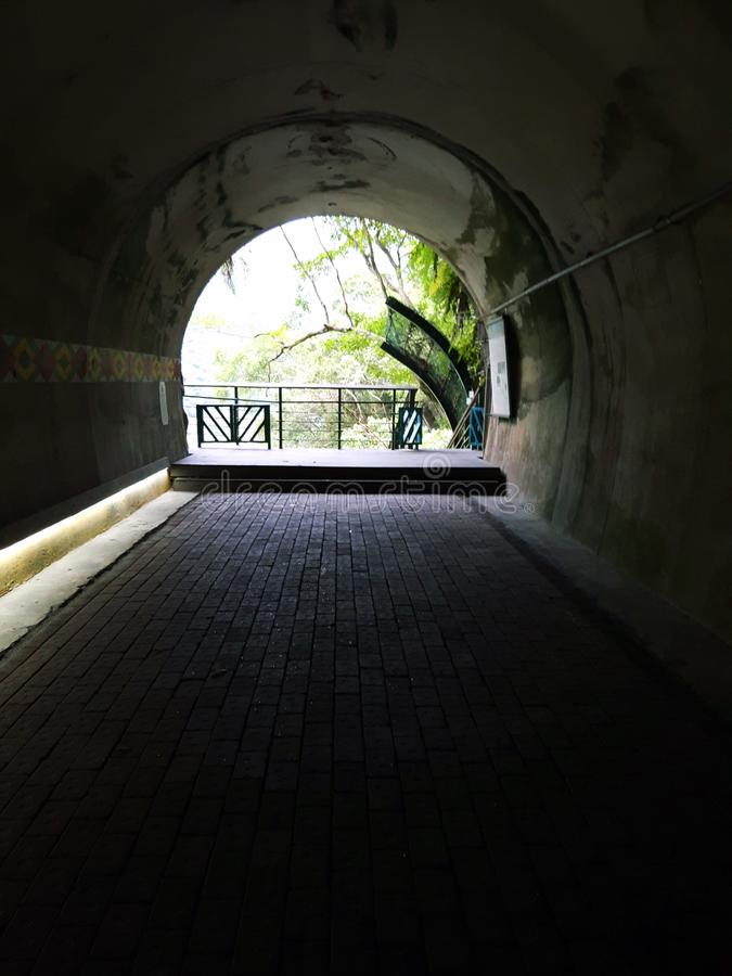 在洞里面在Taroko地区台湾 库存照片