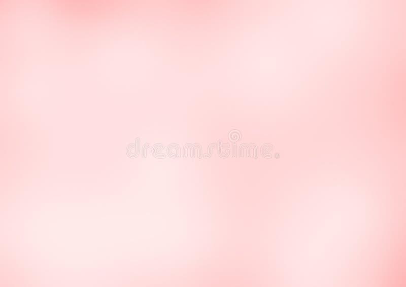 在浅粉红色的口气的被弄脏的抽象五颜六色的背景 皇族释放例证