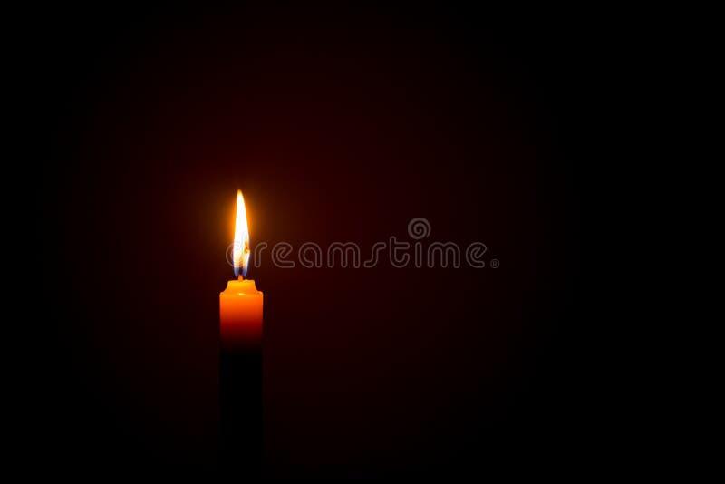 在浪漫的蜡烛光 库存图片