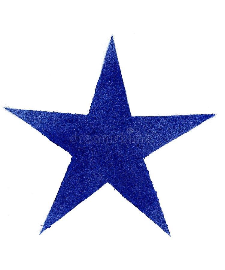 在浪花艺术手绘画艺术品的美好的蓝星特写镜头装饰标志例证 ?? 皇族释放例证