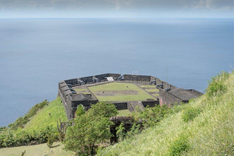 在海上的堡垒 免版税库存照片