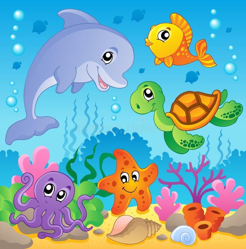 在海中2个图象主题 库存例证