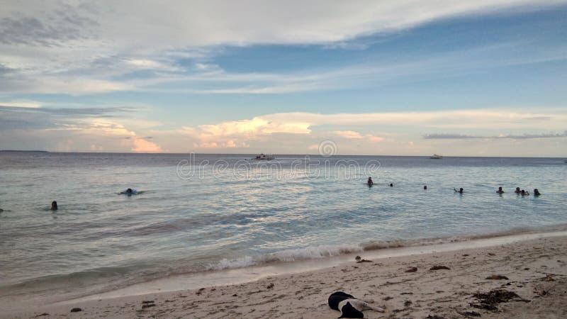在海享受夏天 图库摄影