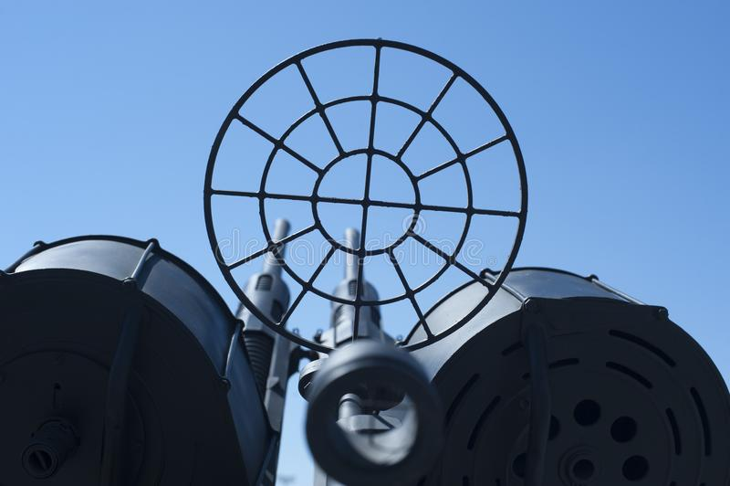 在海军博物馆的反航空器枪 免版税库存照片