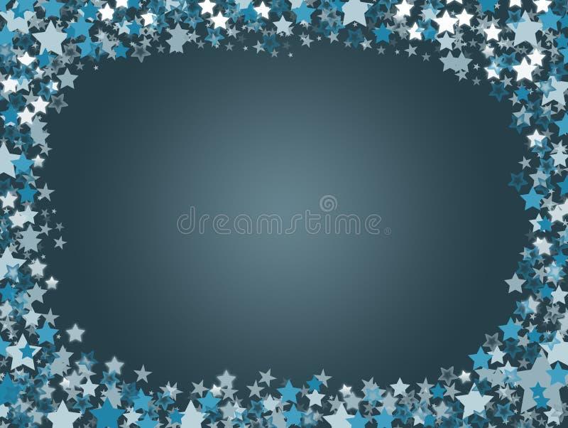 在海军背景的蓝星 免版税图库摄影