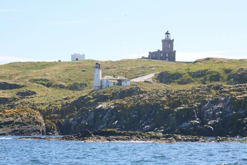 在海岛上的三座灯塔 免版税图库摄影