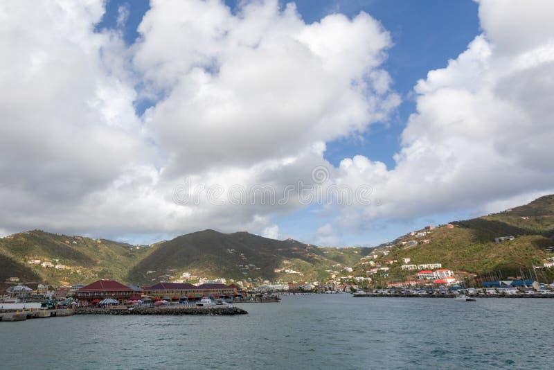 在海岛上的好天气 库存图片