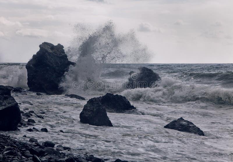 在海岸的风暴 库存图片