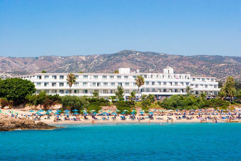 在海岸附近的旅馆 免版税库存图片