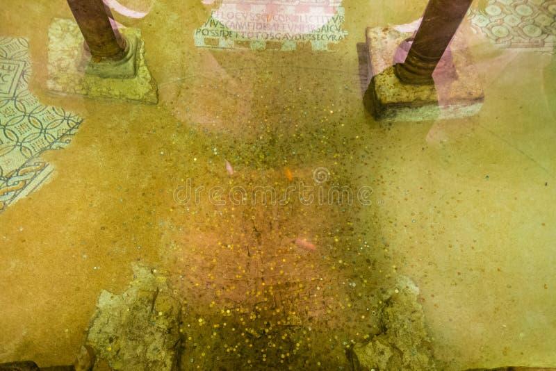 在海平面下的浸满水土窖 库存照片