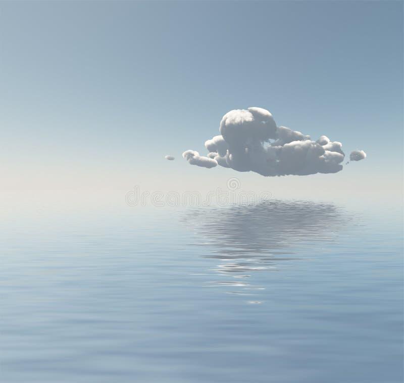 在海或海洋的云彩 皇族释放例证