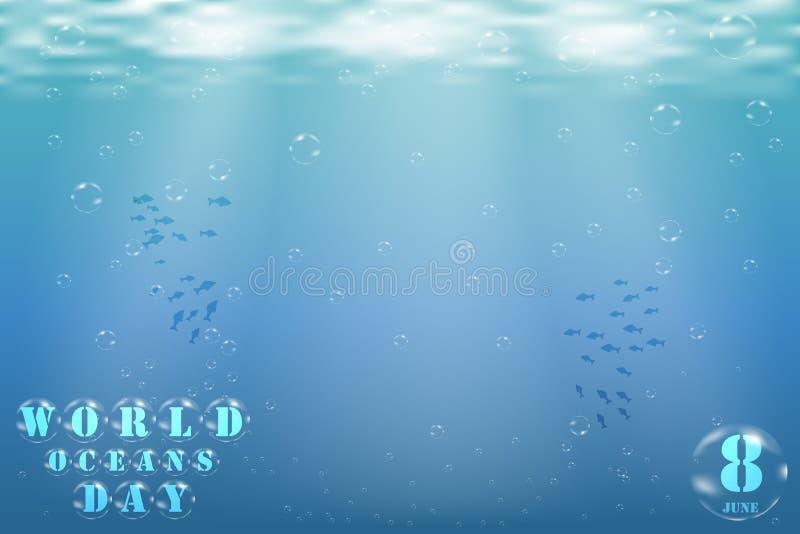 在海景的水下的世界 库存例证