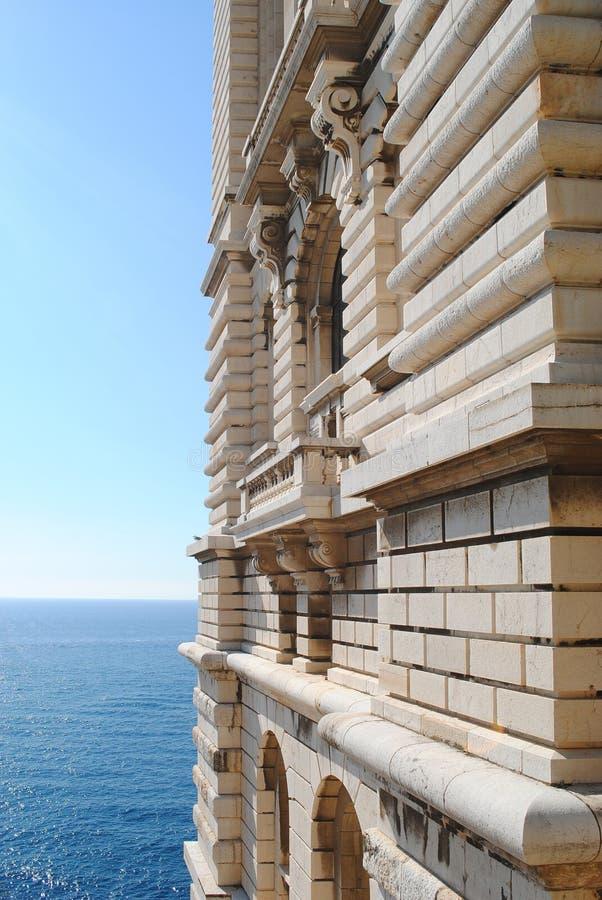 在海洋学博物馆或Musee Oceanographique附近的看法是海洋科学博物馆在摩纳哥韦莱在摩纳哥 免版税图库摄影