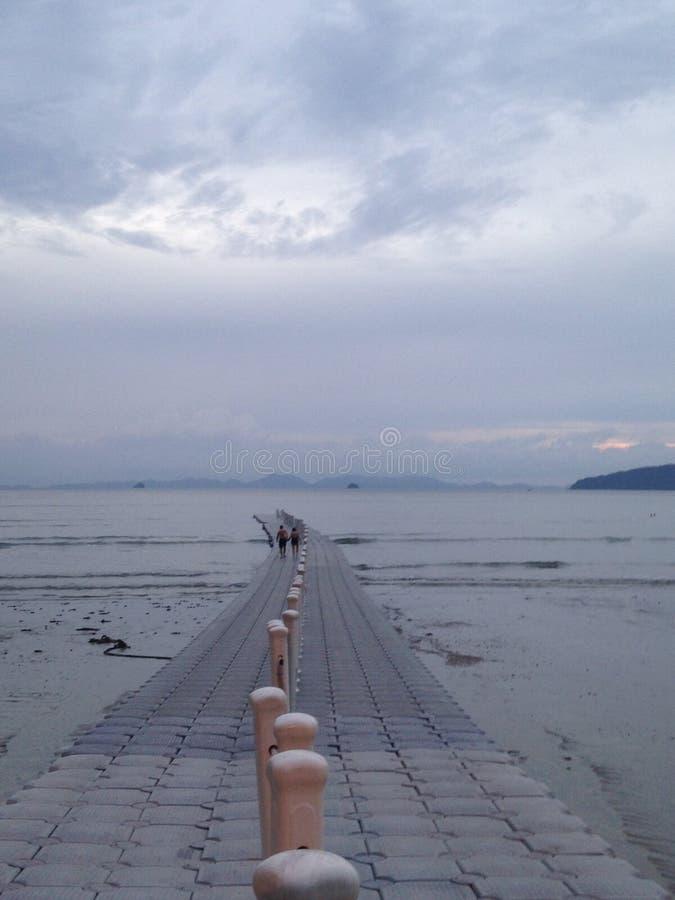 在海湾的小梨在安达曼海 图库摄影