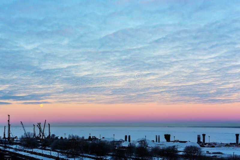 在海湾的早晨 库存图片