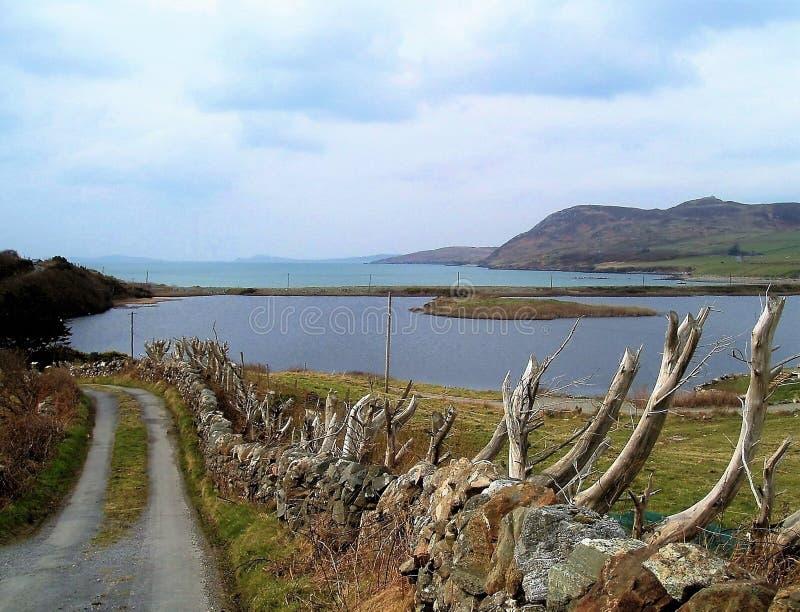 在海湾的看法对Inishbofin 库存图片