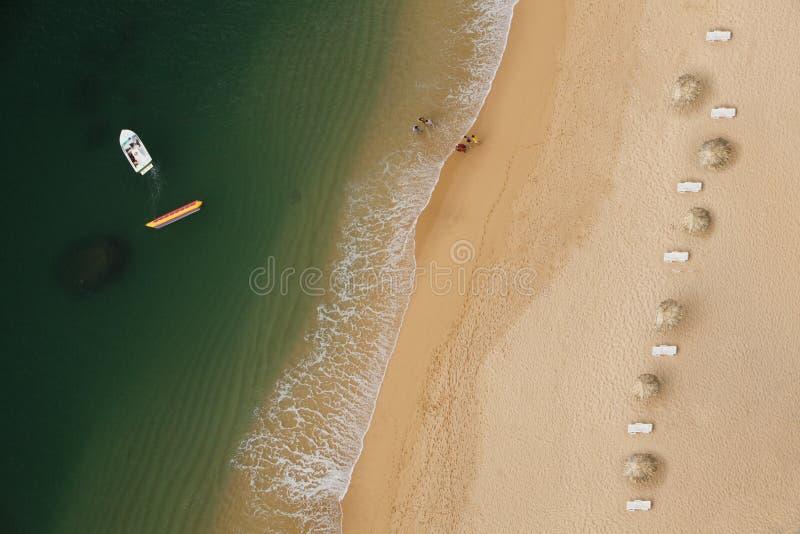 在海滩之上 库存照片