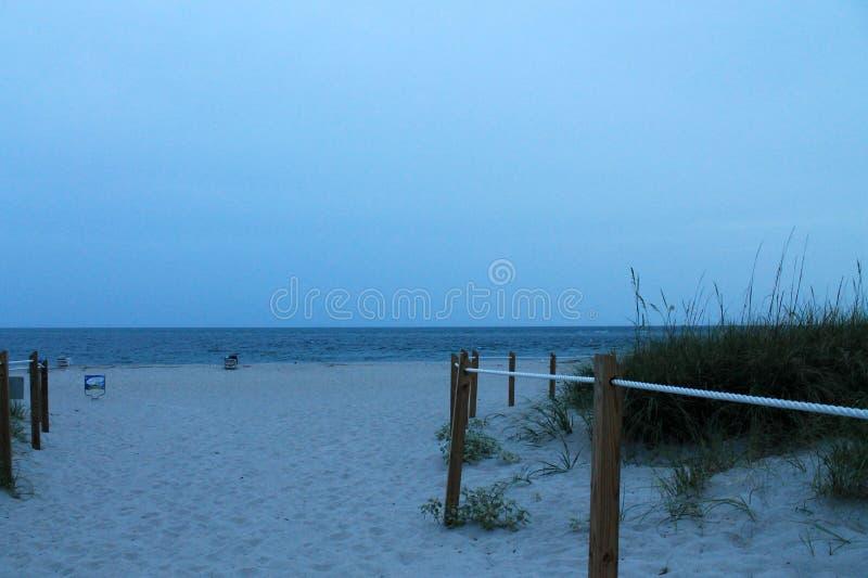 在海滩的下午 库存图片